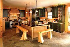 original diseño de cocina rústica