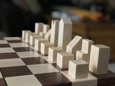 F. Lanier Graham chess set and board