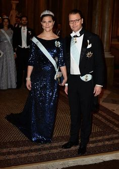 Swedish royals are attending the Kings Dinner for the Nobel winners tonight at the Royal Palace