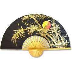 Bamboo Moon Wall Fan - OrientalFurniture.com
