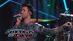 """Maroon 5: Adam Levine and Band Perform """"Maps"""" - America's Got Talent 2014"""