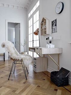 50 Awesome Scandinavian Home Office Designs : 50 Awesome Scandinavian Home Office Designs With White Wall And Wooden Desk Chair Lamp Cabinet And Glass Door And Wooden Floor