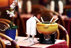 Fondue Print by John Rizzuto French Table, Framed Prints, Canvas Prints, Travel Photographer, Fondue, Tapestry, Art, Hanging Tapestry, Art Background