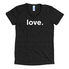 Women's Love T-shirt - WordGoods  - 1