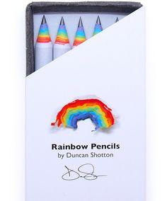 Rainbow Pencils   Stationery   Duncan Shotton Design Studio