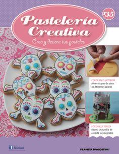 Fascículo 135 de Pastelería Creativa Cake Decorating Magazine, Sugar Paste, Color Effect, Skull And Crossbones, Beautiful Cakes, Cupcake Cakes, Layers, Castle, Cookies