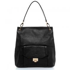 BACCINI Schultertasche LUISA - Leder Handtasche schwarz Taschen Damen Schultertaschen
