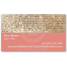 Gold Sequins  Business Card