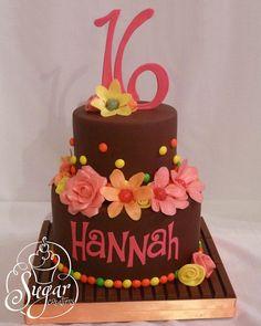 16th birthday cake for @Hannah Mestel Mestel Hodges it even says HANNAH :)