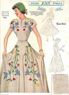"""1950s. Fashion Frocks Style #1659: """"From Any Angle ... Smart ... New"""" by CollectoratorOne, via Flickr"""