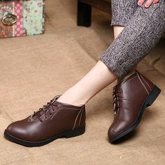 Leisure Pure Color Flat Shoes