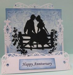 Daughter & Son in Law's 8th Wedding Anniversary Stepper Card | docrafts.com