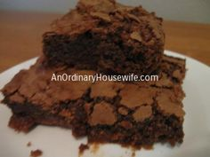 Tasty Tuesday: My Favorite Homemade Brownies | An Ordinary Housewife
