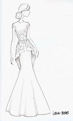 Ideas Fashion Design Dress Drawing Art For 2019 Dress Design Sketches, Fashion Design Sketches, Fashion Art, Runway Fashion, Fashion Models, Trendy Fashion, Couture Fashion, Fashion 2017, Style Fashion