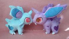 Sugarstitch Plush, Pokemon Custom Nidoran Plush Pair SOLD Nidoran and...