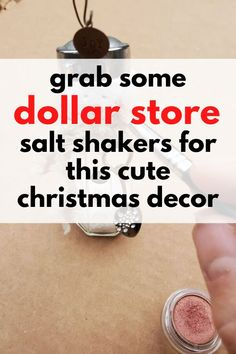 fun upcycling holiday Christmas craft project with dollar store or thrift store salt shakers. Easy cute mini DIY Christmas snowman to decorate your fireplace mantle and make your living room or entryway for the Holiday on a budget. Christmas Room, Christmas Snowman, All Things Christmas, Christmas Craft Projects, Christmas Decorations, Xmas Crafts, Clay Projects, Cute Snowman, Snowman Crafts