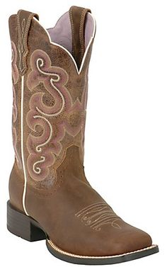 Ariat® Ladies Bad Lands Brown Quickdraw Square Toe Western Boot | Cavender's Boot City