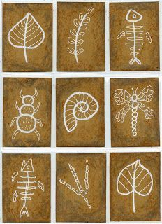 Art Projects for Kids: Fossil Art Trading Cards Art Projects for Kids: Fossil Art Trading Cards Sharpie Paint Markers, Bd Art, Art Trading Cards, Science Art, Art Plastique, Art Activities, Teaching Art, Elementary Art, Projects For Kids