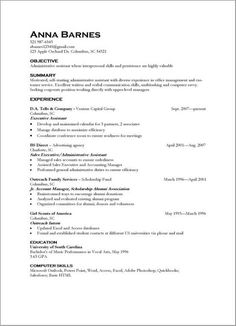 Skills Example For Resume Resume Objective Examples For Administrative Assistant  Jobs .