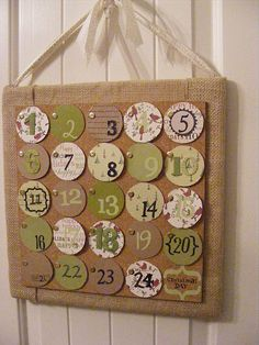Activities Advent Calendar Idea - An Activity under each day to do with kids.
