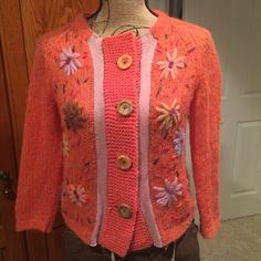 Free People Flower Cardigan - S Adorable cardigan. First two pics are the best representation of color. Purchased from another Posher, but just didn't wear it much. Free People Sweaters Cardigans