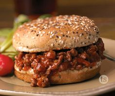 Simple Sloppy Joes. A homemade family favorite that is perfect for large gatherings or just the family.