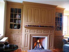 fireplace cabinet colonial - Google Search