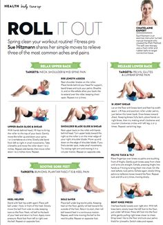 Foam rolling to beat aches & pains More