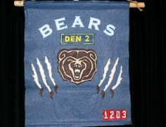 "Bear's will start doing more ""Boy Scout like"" activities Cub Scout Crafts, Cub Scout Activities, Scout Mom, Girl Scouts, Cub Scout Den Flags, Create A Flag, Cub Scouts Wolf, Bear Crafts, Bears"
