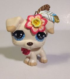 Littlest pet shop Dog * Fun Feather Pup * LPS Custom Hand Painted OOAK #Hasbro