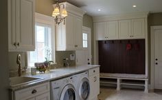 Laundry room/mud room... YES please!