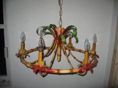 Vintage faux bamboo tole chandelier Parker Kennedy Living ...