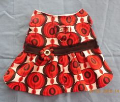 Red Poppy Summer Dress  for Dogs - size MEDIUM - Upcycled - Dressy Casual Little Red (Dog) Dress!! by PrettyPuppiesbyJ on Etsy