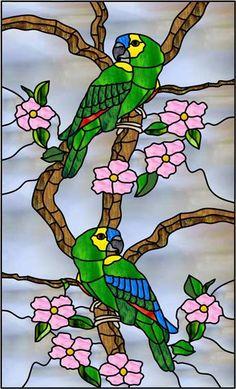Parrot Rectangle set Decorative Window Film