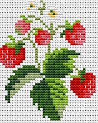 Strawberries cross stitch.
