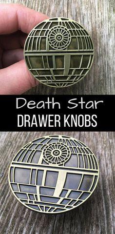 Death Star Drawer Knobs - Star Wars Home #starwars #deathstar #drawerknobs