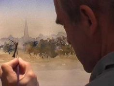 Painting Watercolour Trees 1 - Distant Trees - YouTube