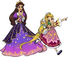 LE Doll Design Rapunzel and Arianna by Sakuyamon on DeviantArt Disney Princess Fashion, Disney Princess Art, Disney Rapunzel, Disney Dolls, Sailor Princess, Disney Princesses, Walt Disney, Disney Nerd, Disney Fan Art
