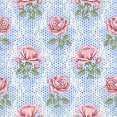 ...blue lacy rose  pattern