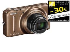 NIKON Coolpix S9200 - Marron Glacé