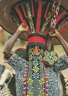Africa | The Bamileke of Cameroon || Scanned postcard.