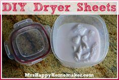 DIY Homemade Dryer Sheets