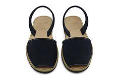 Castell Avarcas Women's Classics Dark Navy Leather Slingback Sandals