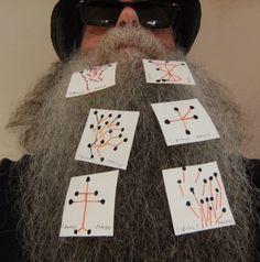 BEARD GALLERY - Opere di Bunus Ioan installate sulla mia barba (Galleria Pensile)