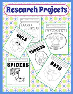 These research projects from The Library Patch are perfect for Common Core Writing Standards 7 and 8. Each animal themed project has at least nine printable pages that will guide you and your students through the research process. $