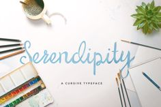 Serendipity Script Handwritten font on Creative Market
