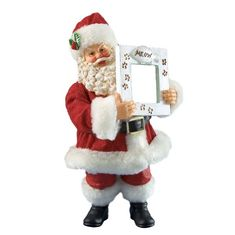 Department 56 Possible Dreams Clothtique Here Comes Santa Claws Pets Santa Figurine >>> Visit the image link more details.