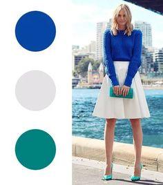 Colour Combinations Fashion, Color Combinations For Clothes, Fashion Colours, Colorful Fashion, Color Combos, Color Schemes, Color Composition, Le Grand Bleu, Style Casual