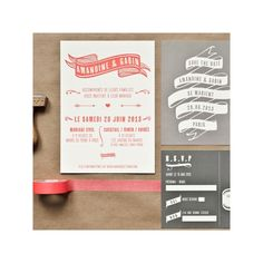 invitation letterpress gabin - Mister M Studio