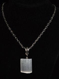 Selenite Necklace . Selenite Pendant Necklace . Healing Selenite Necklace . Boho Stone Jewelry . Chakra Healing Selenite . Healing Crystals by StarshineInnovations on Etsy